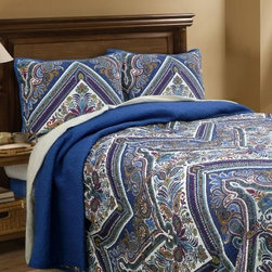 Scent-Sation Tangiers Jewel Quilt - Give your bed a cozy, exotic style with the Scent-Sation Tangiers Jewel Quilt. This quilt is made with a durable microfiber shell and features a cotton and poly blend fill for added comfort. Its charming paisley and floral pattern offers cool colors in blue, turquoise, and purple that enhance any bedroom décor.Comforter Dimensions:Twin: 86L x 68W in.Full: 86L x 86W in.Queen: 86L x 86W in.King: 90L x 104W in.About Scent-Sation, Inc.Founded in 1950, Scent-Sation has continually remained focused on manufacturing the finest bedding, sheets, and hangers available. The company took its name from the very first product they manufactured: scented hangers. From there, the company moved on to bedding and sheets, though it didn't leave the aromatic satin hangers behind. Whether you're looking for traditional or contemporary bedding, Scent-Sation has a high-quality option for you, crafted with care and attention to detail.