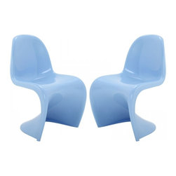 Modway Imports - Modway EEI-1254-BLU Slither Dining Side Chair Set of 2 In Blue - Modway EEI-1254-BLU Slither Dining Side Chair Set of 2 In Blue
