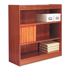 Alera - Alera BCS33636MO Square Corner Wood Veneer Bookcase - Medium Oak Multicolor - AL - Shop for Bookcases from Hayneedle.com! About AleraWith the goal of meeting the needs of all offices -- big or small casual or serious -- Alera offers an excellent line of furnishings that you'll love to see Monday through Friday. Alera is committed to quality innovative design precision styling and premium ergonomics ensuring consistent satisfaction.