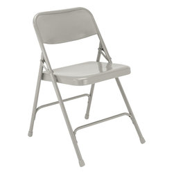 National Public Seating - National Public Seating 200 Series Premium All-Steel Folding Chair in Gray - The 200 Series is the best selling chair of all time from National Public Seating. This model folding chair focuses on the combination of comfort and function with a full size double contoured back and a waterfall seat. These chairs are conveniently portable when used with a chair truck.