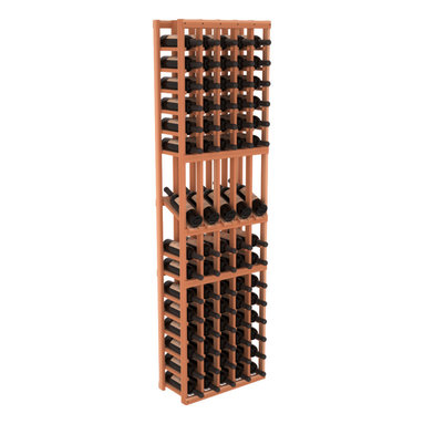 Wine Racks America - 5 Column Display Row Wine Cellar Kit in Redwood, (Unstained) Redwood - Make your best vintage the focal point of your wine cellar. Four of your best bottles are presented at 30° angles on a high-reveal display. Our wine cellar kits are constructed to industry-leading standards. Youll be satisfied with the quality. We guarantee it.