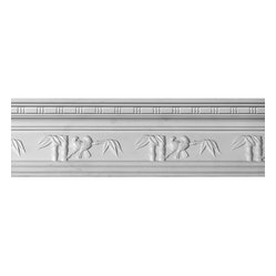 The Renovators Supply - Cornice White Urethane Tropicana - Ornate Cornice | 12402 - Cornices: Made of virtually indestructible high-density urethane our cornice is cast from steel molds guaranteeing the highest quality on the market. High-precision steel molds provide a higher quality pattern consistency, design clarity and overall strength and durability. Lightweight they are easily installed with no special skills. Unlike plaster or wood urethane is resistant to cracking, warping or peeling.  Factory-primed our cornice is ready for finishing.  Measures 5 1/4 inch H x 95 1/2 inch L.