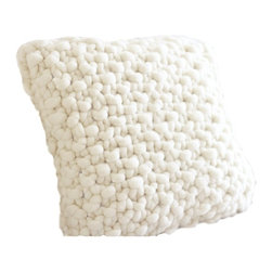 ColorwaysGallery - Merino Hand Knit Chunky Pillow, 18x18 Inches - SMOOSH™ Pillow