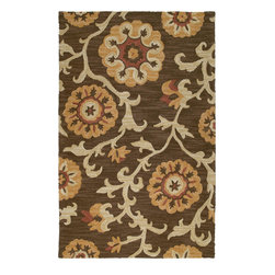 Kaleen - Kaleen Carriage Cornish (Brown) 9' x 12' Rug - Carriage is a warm and casual rug as comfort and as much a part of the family as that favorite sweater. As all Kaleen products Carriage is only made of the finest materials. Hand Tufted Loop construction made in India of 100% Premium Virgin Wool.