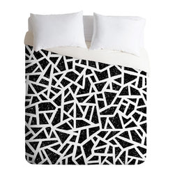 DENY Designs - Nick Nelson Frenetic Duvet Cover - Turn your basic, boring down comforter into the super stylish focal point of your bedroom. Our Luxe Duvet is made from a heavy-weight luxurious woven polyester with a 50% cotton/50% polyester cream bottom. It also includes a hidden zipper with interior corner ties to secure your comforter. it's comfy, fade-resistant, and custom printed for each and every customer.