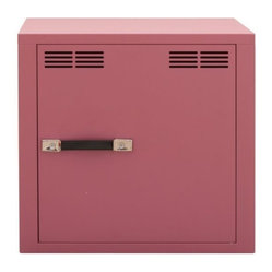 Stack-F Metal Cabinet 1 Door, Antique Light Pink