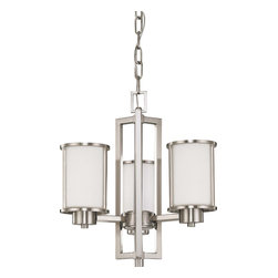 Nuvo Lighting - Nuvo Lighting 60-3805 Odeon ES 3-Light Chandelier with White Glass - Nuvo Lighting 60-3805 Odeon ES 3-Light Chandelier with White Glass (3) 13w GU24 Lamps Included
