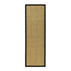 """Safavieh - Contemporary Natural Fiber Hallway Runner 2'6""""x14' Runner Natural - Black Area R - The Natural Fiber area rug Collection offers an affordable assortment of Contemporary stylings. Natural Fiber features a blend of natural Natural - Black color. Machine Made of Sisal/Sea Grass the Natural Fiber Collection is an intriguing compliment to any decor."""