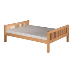 Camaflexi - Camaflexi Full Mission Headboard Platform Bed - C1411NT - Shop for Beds from Hayneedle.com! With its timeless mission style and full size this Camaflexi Full Mission Headboard Platform Bed is designed to grow with your child. It has a classic look that works well with any decor and comes in classic finish options that will too! This full sized bed is well-built of eco- and people-friendly solid wood. It features a slat roll foundation with durable center rail support for comfort. It does not require a box spring simply your mattress. Add the optional trundle to truly maximize your floor space. About CamaflexiCamaflexi designs furniture that grows with your children. They offer safety durability and beautiful furniture designs that you and your children will love. Camaflexi is a proud member of the sustainable furnishings council. All Camaflexi beds are made of solid wood and built to stand the test of time. They are all tested and certified to meet all government and industry safety standards. Camaflexi ladders and steps are extra wide to be safer for your children. Camaflexi creates furniture for growing children.