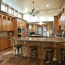 Rustic Kitchen by Schultz Building Inc