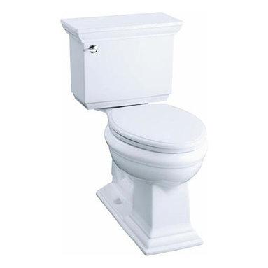 KOHLER - KOHLER K-3817-0 Memoirs Stately Comfort Height Two-Piece 1.28 GPF Toilet - KOHLER K-3817 Memoirs Stately Comfort Height Two-Piece Elongated 1.28 GPF Toilet with Class Five Flush System and Left-Hand Trip Lever