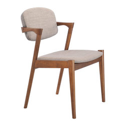 Zuo Modern Contemporary, Inc. - Brickell Dining Chair Dove Gray (set of 2) - Slender shapes and clean lines in rubberwood define the Brickell Chair's comfort and look.  With textured polyblend fabric, this chair gives a warm look to any contmporary space.  It is a great piece of design