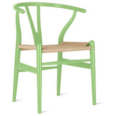 Living Room Chairs Wagner Wishbone Chair in Mint