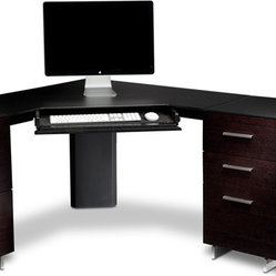 BDI - Sequel Corner Desk 6019 - Make use of wasted space in your space. It's hard enough to fit a home office in a home without letting a whole corner of the room go unused. And the biggest bonus is that all the cords and cables are out of sight. More room, less mess!