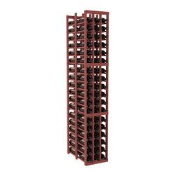 Wine Racks America - 3 Column Double Deep Cellar in Pine, Cherry + Satin Finish - High capacity double deep wine racks are attractive, functional and efficient. Turn your unused space into wine storage with just one wine rack. Keep 9 cases of wine in only three columns. This wooden wine rack kit is perfect for creating maximum storage capacity from deep but narrow areas like pantries.
