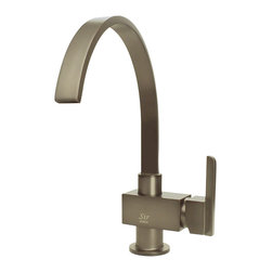 "MR Direct - Brushed Nickel Single Handle Kitchen Faucet - The 712-BN Single Handle Kitchen Faucet has a one or three-hole installation option and is available in a brushed nickel, oil-rubbed bronze or chrome finish. It is a versatile faucet with a 360 degree spout and optional base plate that can be used with a kitchen or bar sink. The dimensions for the 712-BN are 2 3/8"" x 13"" with a 9 1/2"" spout reach. This faucet is pressure tested to ensure proper working conditions and is covered under a lifetime warranty. With its unique spout design, the 712-BN is sure to complement any bar or kitchen sink."