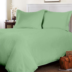 """Egyptian cotton Fitted Sheet With 28"""" Deep Pocket 800 TC Solid (Full, Sage) By F - This is 1 Fitted sheet (54 x 75 inches) only."""