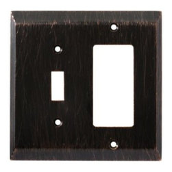 Liberty Hardware - Liberty Hardware 126392 Stately WP Collection 4.96 Inch Switch Plate - The Stately design adds elegance and sophistication to every room with its simple lines. The Venetian Bronze finish brings distinguished style and grace to any room. Fasteners are included and sized to fit standard electrical boxes. This family is available in the 10 most popular wall plate configurations. Width - 4.96 Inch, Height - 4.9 Inch, Projection - 0.3 Inch, Finish - Venetian Bronze, Weight - 0.42 Lbs.