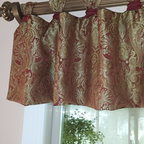 Recent Projects - Wrapped Tab valance on decorative wood rod. Nick Nixon (Interior  VUES)