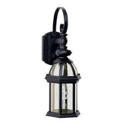 Maxim Lighting - Maxim Lighting 1021BK Builder Cast 1-Light Outdoor Wall Lantern In Black - Features