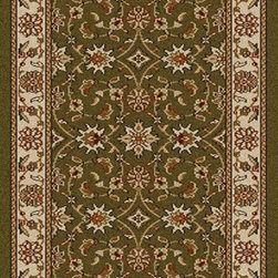 """Radici USA - Traditional Como Hallway Runner 2'2""""x7'7"""" Runner sage Area Rug - The Como area rug Collection offers an affordable assortment of Traditional stylings. Como features a blend of natural navy color. Machine Made of Olefin the Como Collection is an intriguing compliment to any decor."""