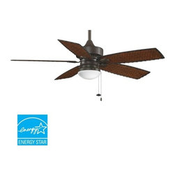 """Fanimation - Fanimation FP8016 Cancun 52"""" 5 Blade Outdoor Ceiling Fan - Blades & Light Kit - Included Components:"""