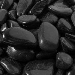 Rain Forest - 20 Lb Black Super Polished River Pebbles 1-3 cm - Margo Garden Products Super Polished River Pebble collection offers the best in quality hand-picked stones from around the world. All stones are tumbled and polished to produce the smoothest and most consistent in color stone without blemishes to last years. This 20 lb. bag is easy to tote and store for adding a beautiful and long lasting accent to your landscape and design. Use Polished River Pebbles as a substitute to mulch along walkways and outdoor gardens, in fountains, in interior and exterior planters and in creative interior and exterior design.