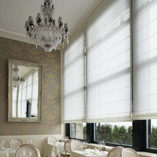 Modern Roman Shades by House Couturier Limited