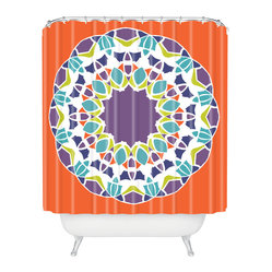 Karen Harris Mod Medallion Mulberry Shower Curtain