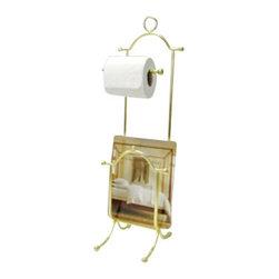 Taymor - Taymor Combination Magazine Rack/European Toilet Tissue Holder - Polished Brass - Combination Magazine Rack/European Toilet Tissue Holder by Taymor