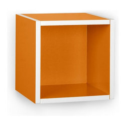 Way Basics - Wall Cube, Orange - Storage Cubes specifically designed to hang on a wall? You asked, and we listened! Your favorite organizational solution has grown wings! Our new Wall Cubes maintain the simple design and functionality of the cube, but can now help you organize your wall space!