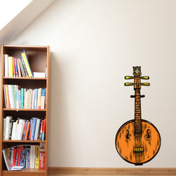 Chinese Instrument Vinyl Wall Decal ChineseInstrumentUScolor001; 72 in. - Vinyl Wall Decals are an awesome way to bring a room to life!