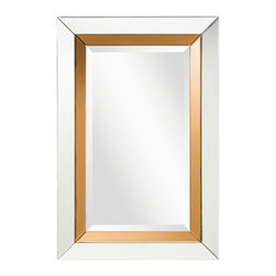 Kichler Lighting - Kichler Lighting 78206 Nasha Transitional Rectangular Mirror - An elegant accent piece, this mirror features a versatile silhouette as well as Clear and Nutmeg Beveled Mirror detailing to create a fixture that will effortlessly highlight any space in your home.