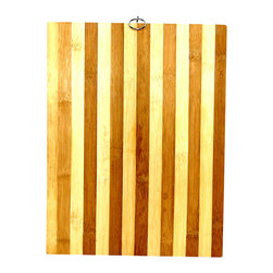 CONCORD - High Quality Bamboo Cutting Board - The beautiful cutting board is made of solid bamboo wood of alternating colors. Because of the material it is made of, it is strong, durable and most importantly water resistant. It includes a metal hanger for easy storage and handling. This cutting board will not dry out or splinter.