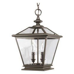"Thomasville Lighting - Thomasville Lighting P3902-20 Antique Bronze Crestwood Crestwood 2 - Thomasville Lighting P3902-20 Two Light Crestwood Foyer PendantUse this unique dual light foyer pendant in both indoor and outdoor covered settings or porches, as well as in foyers and entryways. The essence of traditional gas lanterns combines with updated styling. Clear beveled glass panels combine with a rustic Antique Brass finish for a beautiful and versatile fixture.With traditional coach lantern style and clear beveled glass panels, these fixtures are damp location listed for interior and covered exterior applications. Available in Antique Nickel and Antique Bronze finishes, Crestwood lanterns can be used in traditional applications, such as in outdoor covered settings, but also are ideal for use in foyers and entryways, for a casual American Urban style.Thomasville Lighting P3902-20 Features:Antique Bronze FinishClear GlassThomasville Lighting P3902-20 Specifications:Number of Bulbs: 2Watts Per Bulb: 60Bulb Base: CandelabraBulb Type: IncandescentBulb Included: NoUL Listed: Dry LocationHeight: 17.125""Maximum Overall Height: 92""Width: 10.875""Wire Length: 180""The story of Thomasville began in Thomasville, North Carolina, in 1904. At the time, they offered just one product – a chair. The ""Thomasville Chair"" it was called. The chair was so beautifully crafted and well made that people responded by asking them to create other pieces as well. For over 100 years Thomasville has set the standard for luxury design for the entire furniture industry. Now Thomasville is making available over a century of expertise in quality craftsmanship and exquisite styling in a stunning new line of elegant lighting. Thomasville Lighting will add beauty and value to your home with the timeless style and superior workmanship you have come to expect only from Thomasville."
