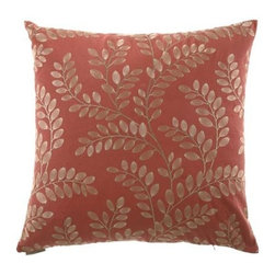 D.V. KAP Home - Sangla Paprika 24 x 24 Decorative Pillow - -24x24 zippered removable cover  -Comes with Feather/Down insert  -Spot or dry clean D.V. KAP Home - 2045-P