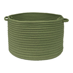 """Colonial Mills - Simply Home Storage Basket - Moss Green, 18"""" x 12"""" - Get organized and live beautifully with this Simply Home braided storage basket. Durable, practical and available in 37 gorgeous colors for indoor and outdoor spaces."""