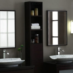 Xylem - Blox 60 in. Tall Wall Shelf in Dark Walnut - Manufacturer SKU: WC_BLOX_60DW. Complements the Blox Vanity Suite. Solid Poplar with Cherry Veneer. Dark Walnut finish. CARB compliant. Wall mount. 8 in. L x 12 in. W x 60 in. H (75 lbs.). View Specification SheetThe Blox vanity collection represents modular furniture at its finest.  This unique system allows for complete customization to fit nearly any bathroom.  Build your dream bath with this modular system.  If you can envision it, you can build it with Blox.