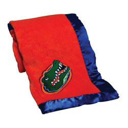 Collegiate Delight - University of Florida Blanket - Let your school spirit show with these officially licensed collegiate baby blankets. These embroidered coral fleece blankets with matching satin trim are super soft to the touch and perfect for your future graduates and athletes.