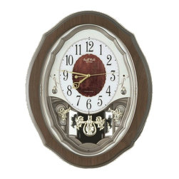 "Rhythm Clocks - 17"" x 15"" Precious Angel Musical Wall Clock - The Rhythm Precious Angel is an elegant, compact, versitile, and beautiful clock."