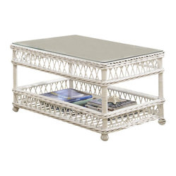 Bar Harbor Wicker Coffee Table