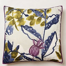 Anthropologie - Creature Hideaway Euro Sham - *Part of our Hothouse Quilt collection
