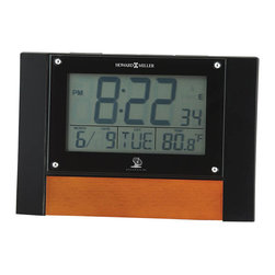 Howard Miller - Howard Miller Anaston Accutech Table Alarm Clock in High Gloss Black - Howard Miller - Mantel / Table Clocks - 645706 - For over 70 years Howard Miller has understood the need to create products that are steeped in quality and value and to never expect anything less than the best. No matter the price of the purchase you have Howard Miller's assurance of quality that is reflected in both the products they create and in the people whose artistic talents they rely on to manufacture them. Incomparable workmanship. Unsurpassed quality. A quest for perfection.
