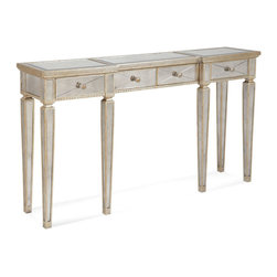 Bassett Mirror Company - Bassett Mirror 8311-472 Borghese Mirrored Console w/ Drawers - Mirrored Console with Drawers belongs to Borghese Collection by Bassett Mirror Company Bassett Mirror is fluent in this art, showing a terrific contemporary furniture that will satisfy on the one hand fans of home coziness, and on the other hand - seekers of non-standard design solutions also. One of the many strengths of the Bassett Mirror is using high quality materials for perfect embodiment of brilliant design ideas. Console (1)