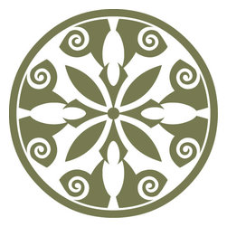 Odhams Press - Breton Olive RETile Decal, Clear Background - RETile decals can be used to accent or transform your existing ceramic, stone or glass tiles. They are easy to apply and can be removed in the future without leaving a sticky residue.