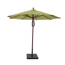 Greencorner - 9' Octagon Mahogany Umbrella, Lime Green - 9' Octagon