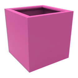 Decorpro - Large Athens Planter, Bubble Gum - The Athens planter is versatile in that it can be used in a variety of settings. From modern houses to traditional spaces, the simple shape of this planter ensures that it will always look good.