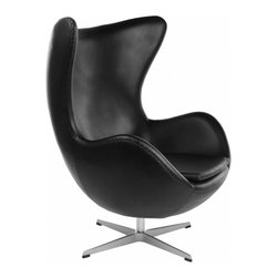 Egg Chair in Modena Black by Rove Concepts -