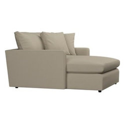 Lounge Chaise - Family-style informality shapes up with clean, modern lines. You can really curl up in these plush, deep seating options. Lounge sectional also available.