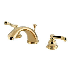 "Kingston Brass - Two Handle 4"" to 8"" Mini Widespread Lavatory Faucet with Retail Pop-up KB962FL - Two Handle Deck Mount, 3 Hole Sink Application, 4"" to 8"" Widespread, Fabricated from solid brass material for durability and reliability, Premium color finish resists tarnishing and corrosion, 1/4 turn On/Off water control mechanism, 1/2"" IPS male threaded inlets with rigid copper piping, Duraseal washerless cartridge, 2.2 GPM (8.3 LPM) Max at 60 PSI, Integrated removable aerator, 5-3/4"" spout reach from faucet body, 4"" overall height.. Manufacturer: Kingston Brass. Model: KB962FL. UPC: 663370118708. Product Name: Two Handle 4"" to 8"" Mini Widespread Lavatory Faucet with Retail Pop-up. Collection / Series: Magellan. Finish: Polished Brass. Theme: Classic. Material: Brass. Type: Faucet. Features: Drip-free washerless cartridge system"